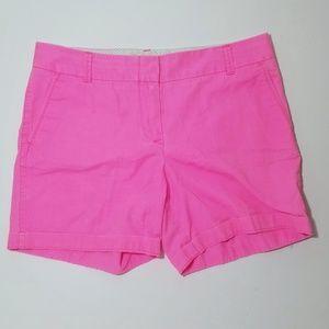 J. Crew Hot Pink Chino Shorts Size 10